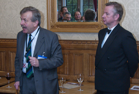 Lord Lexden and Michael Gove in the House of Lords