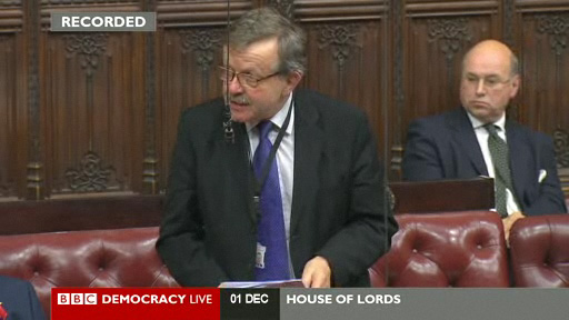 Lord Lexden speaks in the World AIDS day debate in the House of Lords