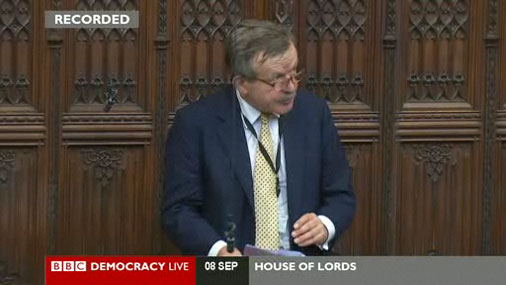 Lord Lexden speaking in a Commonwealth debate in the House of Lords
