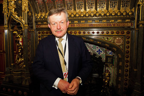 Lord Lexden in the Robing Room of the House of Lords