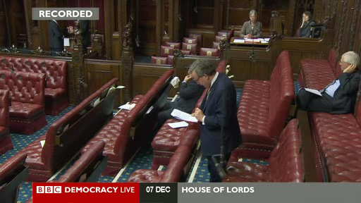 Lord Lexden speaks in a school sports debate in the House of Lords