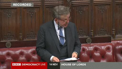 Lord Lexden speaks in the British egg debate in the House of Lords