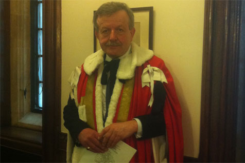 Lord Lexden at the 2013 State Opening of Parliament