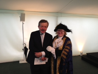 Lord Lexden with the new Lord Mayor of Westminster, Cllr Angela Harvey